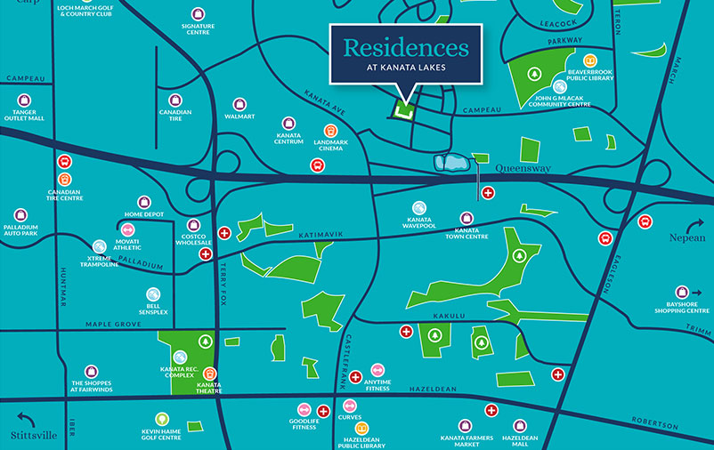 Map to Residences